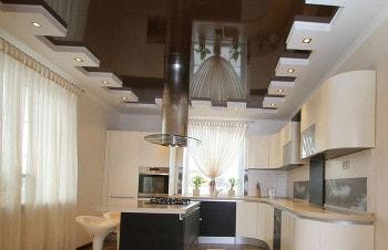 Натяжные потолки для кухни и столовой