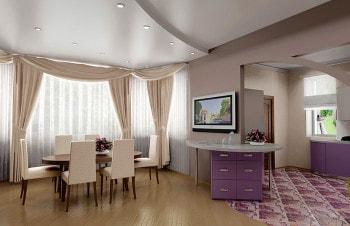 Натяжные потолки для частных домов