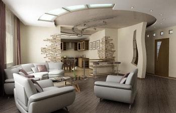 Натяжные потолки для гостиной и спальни